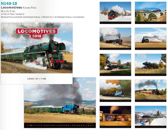 Многолистен рекламен календар Locomotives